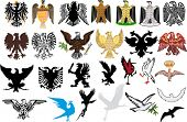 illustration with national heraldic eagles