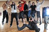 photograher shooting young teens group