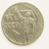 Постер, плакат: Vintage Vintage Russian Ruble Coin