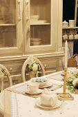 Dining Room Table With Elegant Setting
