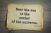 TOP-20. Aphorism by Nicolaus Copernicus (1473 - 1543) - Polish astronomer, mathematician, engineer,  poster