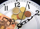 Watches And Coins Of Euro.