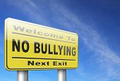Stop bullying at school or at work stopping an online internet bully 3D, illustration  poster