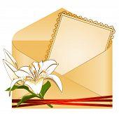 Einladung mit Blumen