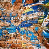 Brick Wall In Ghetto.