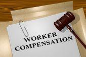 Worker Compensation - Legal Concept poster