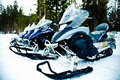 Snowmobiles or Skidoos