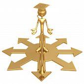Grad Choosing A Direction Graduation Concept