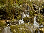 pic of gatlinburg  - Waterfall in the place of a thousand drips near Gatlinburg in Smoky Mountains - JPG