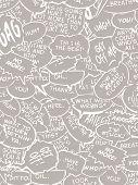 Collage Of Comic Dialogue Bubbles