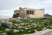 Erechtheum, Acropolis Of Athens In Greece