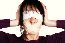 stock photo of human-rights  - Censor and freedom of speech concept - JPG