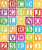 Baby Blocks Set 1 of 3 - Capital Letters Alphabet