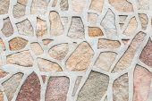 Masonry Stone Wall Rock Construction Pattern Photo poster