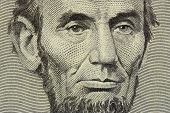 Lincoln 5 Dollar Bill