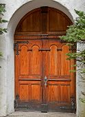 Beautiful Wooden Double Doors Archway