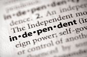 Dictionary Series - Politics: Independent