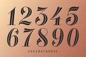 Numbers Font. Classical Elegant Font Of Numbers With Contemporary Vintage Design. Beautiful Elegant  poster