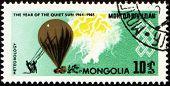 Meteorologischer Ballon auf Post Briefmarke