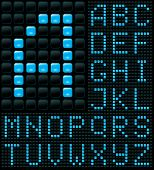 Dot-Matrix-Display mit alphabet