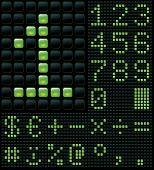 matricial com dígitos e símbolos