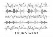 Sound Waves Concept. Sound Waves Vector. Sound Waves Sign And Symbol In Flat Style poster