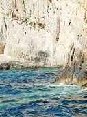 amazing coastline of Zakinthos island, Greece