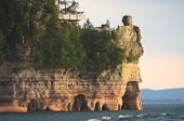 Lake View Of Miners Castle At Pictured Rocks National Lakeshore