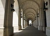 stock photo of amtrak  - Archways at Union Station in Washington DC - JPG