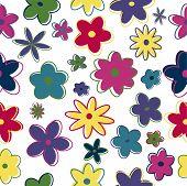 Seamless Retro Flowers