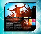 Website design template. Vector illustration