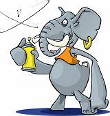 Elephant With Spray