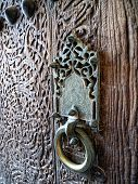 Wooden Door With Doorhandle