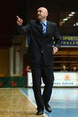KAPOSVAR, HUNGARY - FEBRUARY 22: Branislav Dzunic (Fehervar trainer) in action at a Hungarian Cup ba