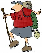 Backpacking Man