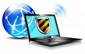 Internet Protection Shield Antivirus Laptop