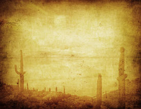 stock photo of wild west  - highly detailed grunge background with wild west landscape - JPG