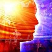 Постер, плакат: Силуэт головы человека