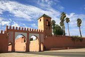 Gate In Traditional Oriental Style In Marrakech, Morocco