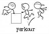 stock photo of parkour  - Illustration of a simple sporting figure - JPG