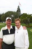 LOS ANGELES - APR 15:  Dennis Wagner, Jack Wagner at the JJack Wagner Celebrity Golf Tournament  at