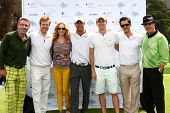 LOS ANGELES - APR 15: John York, Jack Wagner, Ashley Jones, Kyle Lowder, Zack Conroy, Brandon Beemer, Tim Allen at the Wagner Golf Tournament  at akeside Golf Club on April 15, 2013 in Toluca Lake, CA