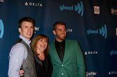 LOS ANGELES - APR 20:  Chris Evans, Scott Evans arrives at the 2013 GLAAD Media Awards at the JW Marriott on April 20, 2013 in Los Angeles, CA