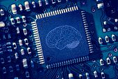 Printed brain onto circuit board