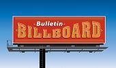 Bulletin billboard construction.