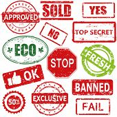 pic of bans  - Set of vector stamps and labels - JPG
