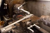 industrial lathe machine and vernier