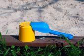 Toys On The Sandpit