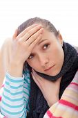stock photo of pharyngitis  - How to avoid to catching a cold or getting the flu - JPG