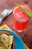 watermelon and aloe cooler